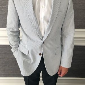 Suits & Blazers - J Crew Seersucker sport coat 40R